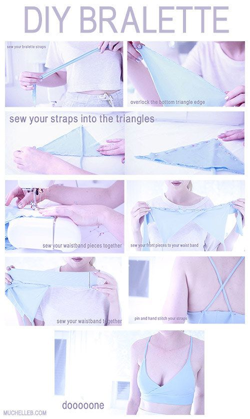 Get your own DIY bralette with this tutorial. | 17 Genius Charts That Will Clear Up Your Questions About Bras
