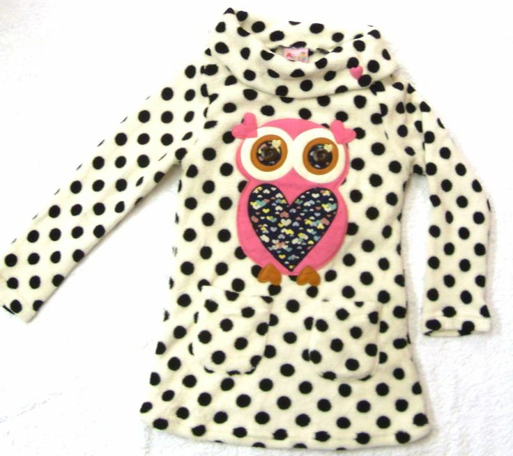 Girls Fun Owl Motif Fleece Top £12.99 available in sizes 3, 4, 5, 7, 8, 10 & 11 year old