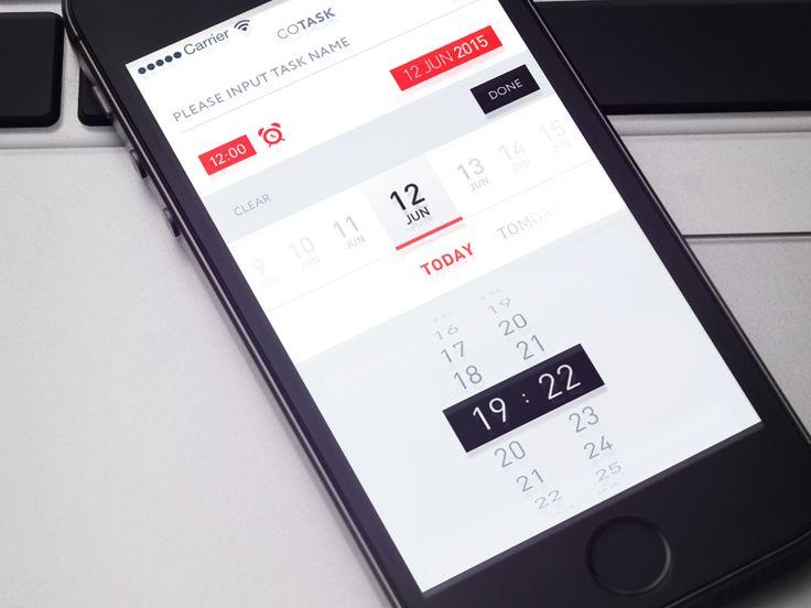 Dribbble - Time and Date Picker by Gleb Kuznetsov✈