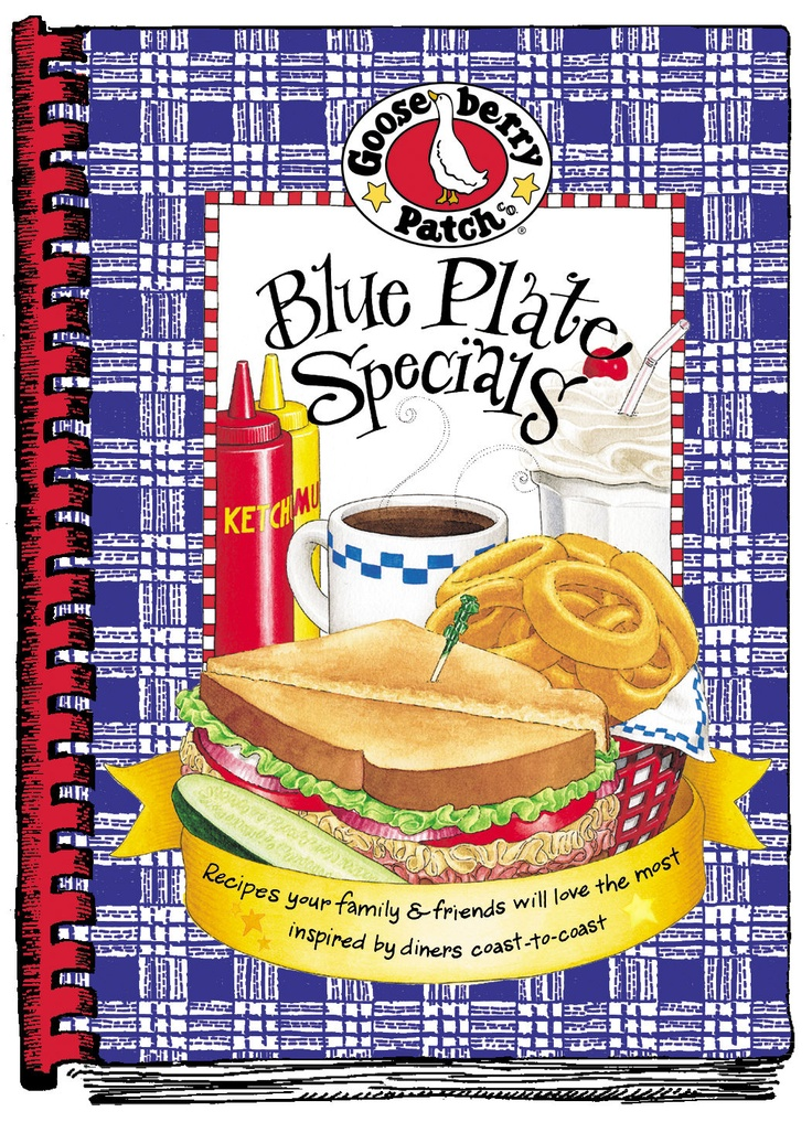 We're serving up something special in this irresistible cookbook! Blue Plate Specials is filled with delightful recipes that will remind you of vacations spent on the road, making stops at small, hometown diners along the way…breakfast, lunch and dinner are served all day and everything tastes great.We've gathered favorite flavors from across the country and paired them with whimsical ideas and travel tips to stir up childhood memories as well as your appetite!St...