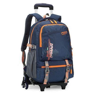 New Kids Trolley School bags Boys Children Removable Backpack 2-6 Wheels For Children Rolling Backpacks Wheels Girls Schoolbag