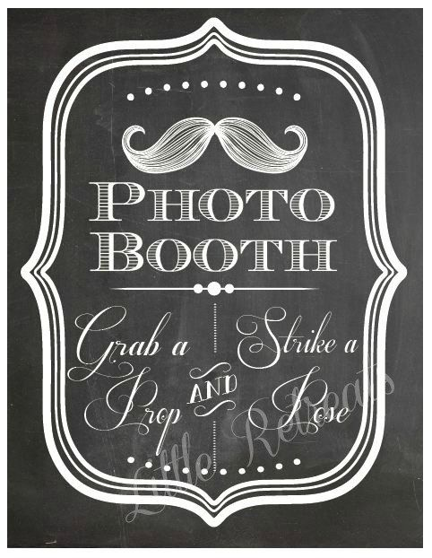 DIY. PRINTABLE PDF. Photo Booth Sign. Photo Booth Prop. Photobooth Prop. Photo Booth.Chalkboard Sign, Wedding Reception. Mustache Bash