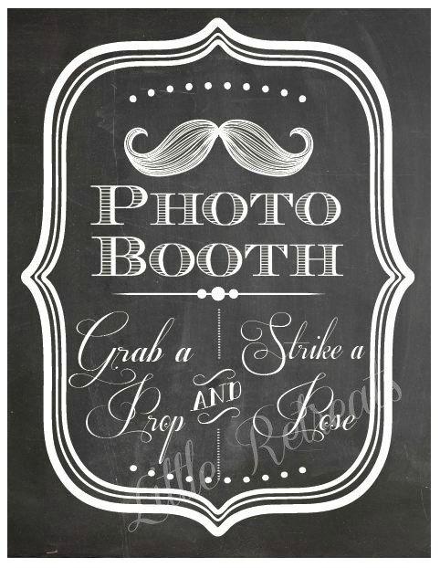 DIY. PRINTABLE PDF. Photo Booth Sign. Photo door LittleRetreats, $8.50
