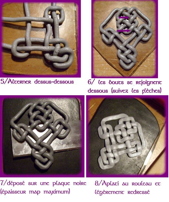 How to make a celtic knot pendant by K Ro - K Do. Once you are on the website just click the two little white links above this pic to advance or reverse through the tutorial. This is page 2 of the tutorial so you will want to click back once to start at beginning. It is in French but pictures are self-explanatory.