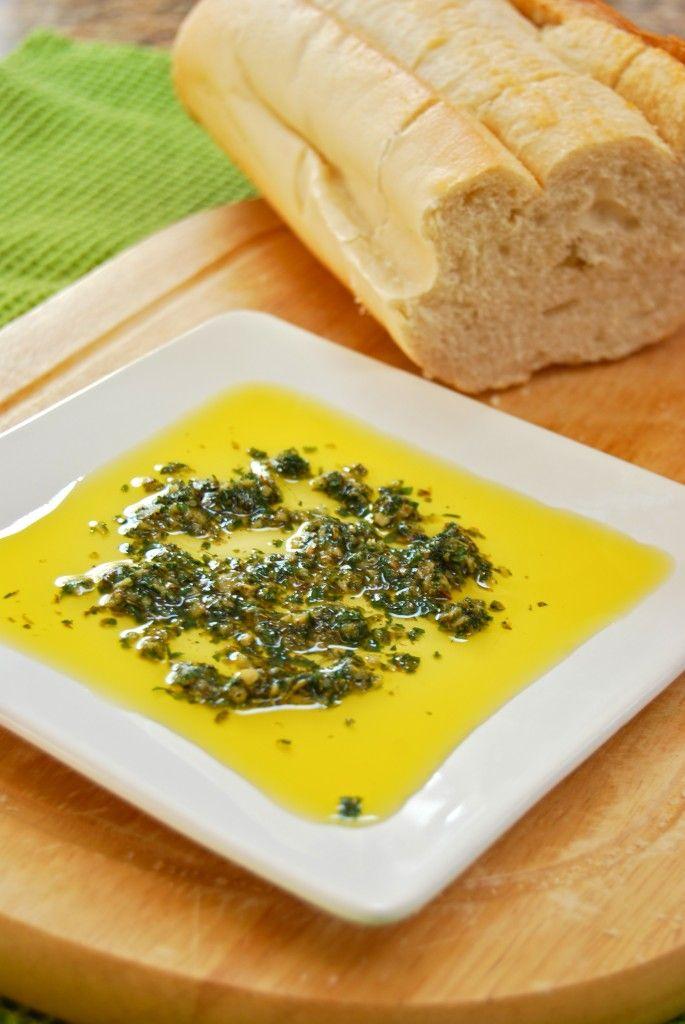Carrabba's Bread Dip Spices:   2 tbsp. parsley  1 tbsp. minced garlic  1 tsp. dried thyme  1 tsp. dried oregano  1/4 tsp. dried basil   1/8 tsp. dried rosemary  1 tsp ground black pepper  1/2 tsp. kosher salt  1/8 tsp. ground red pepper  1/2 tsp. extra virgin olive oil  1/8 tsp. fresh lemon juice  Directions:  Blend or chop all ingredients except olive oil & lemon. Stir in olive oil & lemon juice.  Use 1 1/2 tsp. spice mixture added to 3-4 tbsp. extra virgin olive oil.