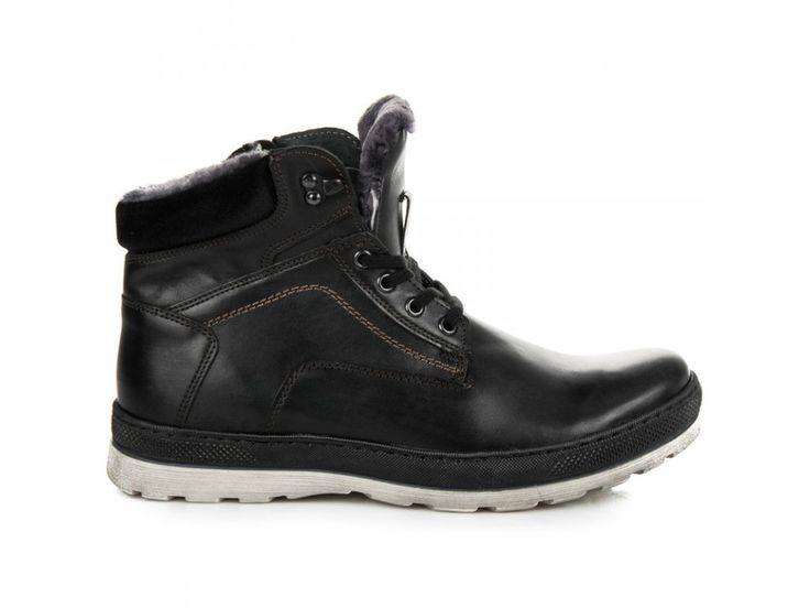 Pánske čierne topánky Gabo