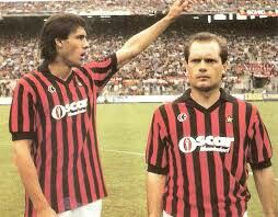 England stars Mark Hateley and Ray Wilkins at AC Milan in 1986.