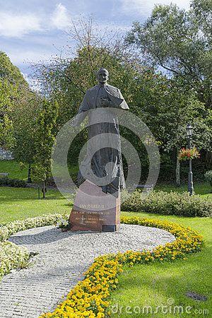 Statue of Pope John Paul II in Wieliczka, Poland , near Krakow.