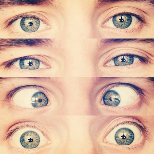 "Connor, your eyes <3 I remember when he was asked what color his eyes were he responded ""Green with yellow suns..teehee!"""