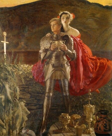 Cadogan Cowper, The Legend of Sir Perceval (1952 - 1953) Exhibited at the Royal Academy in 1952, no. 553.