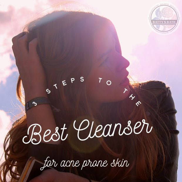 """3 steps to the best cleanser for acne prone skin 