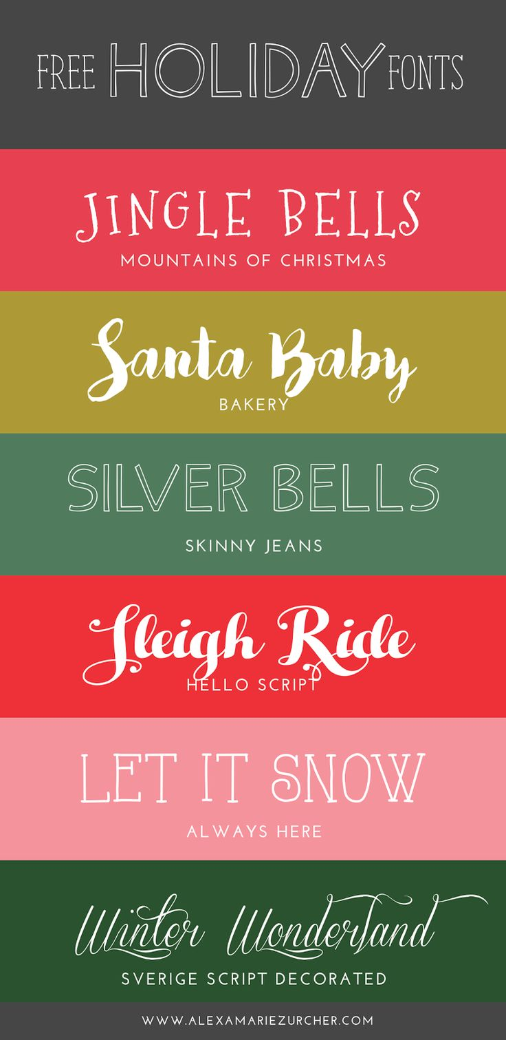 Free Holiday Fonts (He and I)