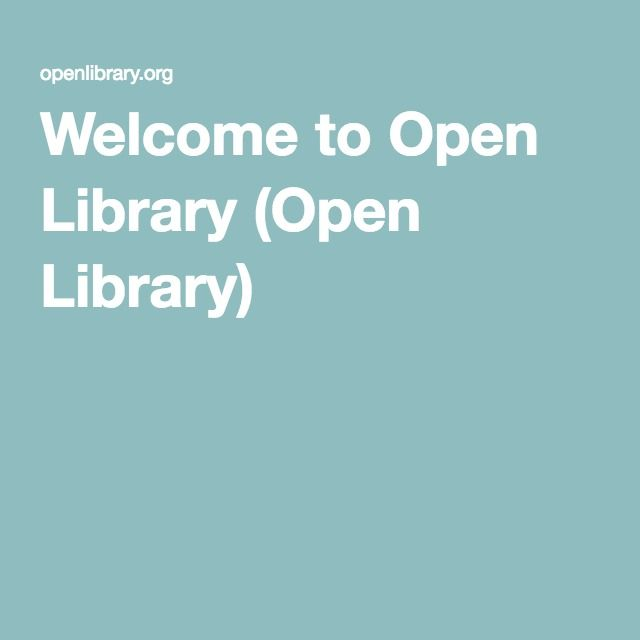 Welcome to Open Library (Open Library)