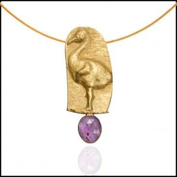 Linda Kindler Priest - Baby Flamingo Necklace