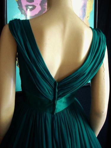 This emerald dress never fails to impress
