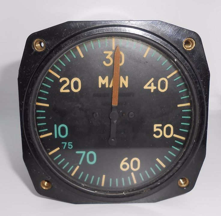 WWII Era Aviation Manifold Pressure Gauge US Gauge Co Military Airplane Aircraft