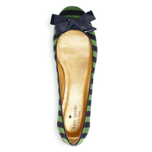 kate spade: Colors Combos, Cute Flats, Blue Green, Spade Flats, Kelly Green, Ballet Flats, Kate Spade, Katespade, Stripes Flats