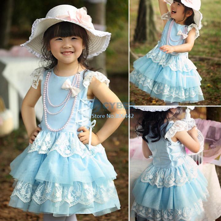 Синее кружевное платье - заказать на Aliexpress