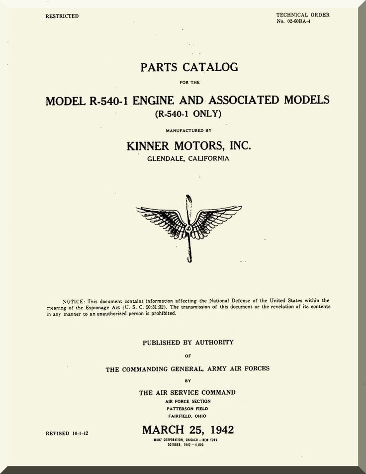Mejores 9924 imgenes de aircraft reports aircraft manuals kinner r 540 1 aircraft engine parts catalog manual english language malvernweather Image collections