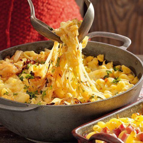Rezept für Käsespatzen mit Zwiebelschmelze | Küchengötter