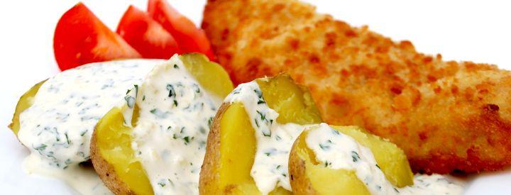 Česnekovo-petrželová studená omáčka na brambory