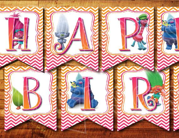Trolls Decorations For Birthdays