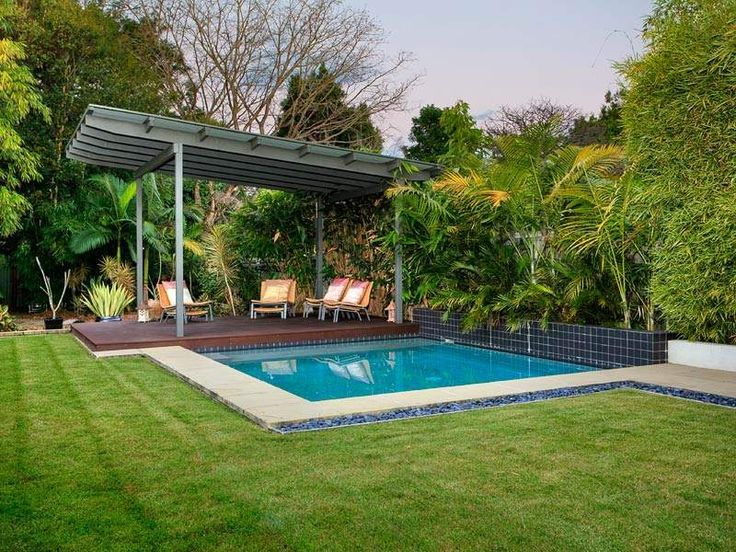 In Ground Pool Design Using Grass With Verandah Amp Outdoor
