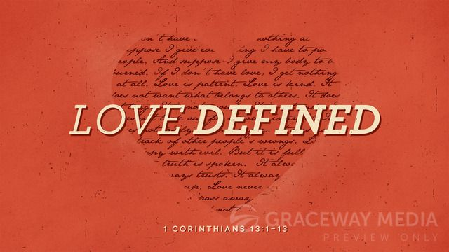 """""""Love Defined"""" is a Title Still containing a Title Layout and two unique Content Layouts. Download Jpegs in both 16:9 (widescreen) and 4:3 (standard) format or PowerPoint presentations ready for your bullet points. Take full creative control and download the layered Photoshop file (PSD)."""