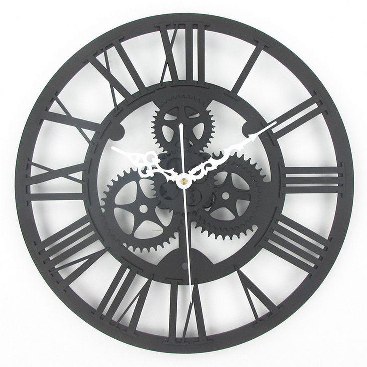 Antique Gear Wall Clock, Vintage Mechanical Gear Clock, Large Industrial, Loft Art Home Living Room Wall Decoration