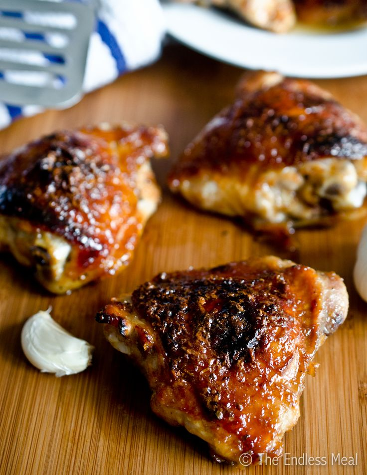 Honey Garlic Chicken,: Honey Garlic Chicken, Sweet, Sticky Honey, Dinners, Chicken Thighs, Cooking, Yummy, Garlic Chicken Recipe, Endless Meals