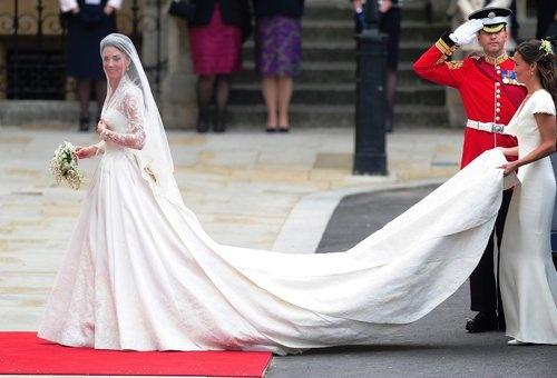 Princess Kate's wedding dress - and Pippa Middleton.