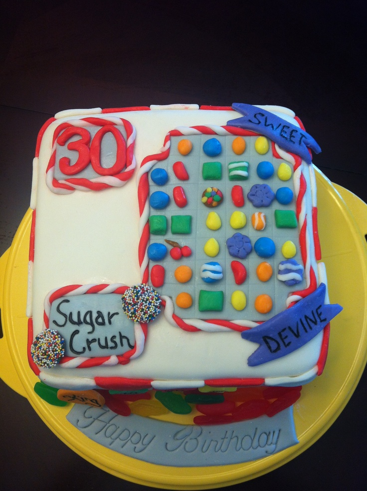 Candy crush cake. Because everyone is addicted to this game!!