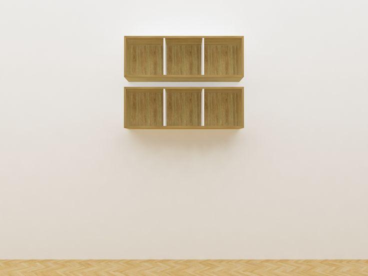 Minimalist modern furniture - Rak Buku Gantung Kayu Minimalis - White Elegant Teak
