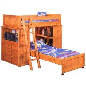 bunkhouse loft bunk with dresser and shelf by trendwood usa is now available at american furniture warehouse