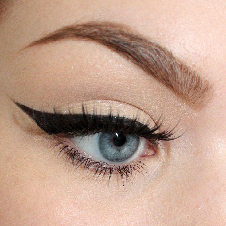 Winged eyeliner tutorial.