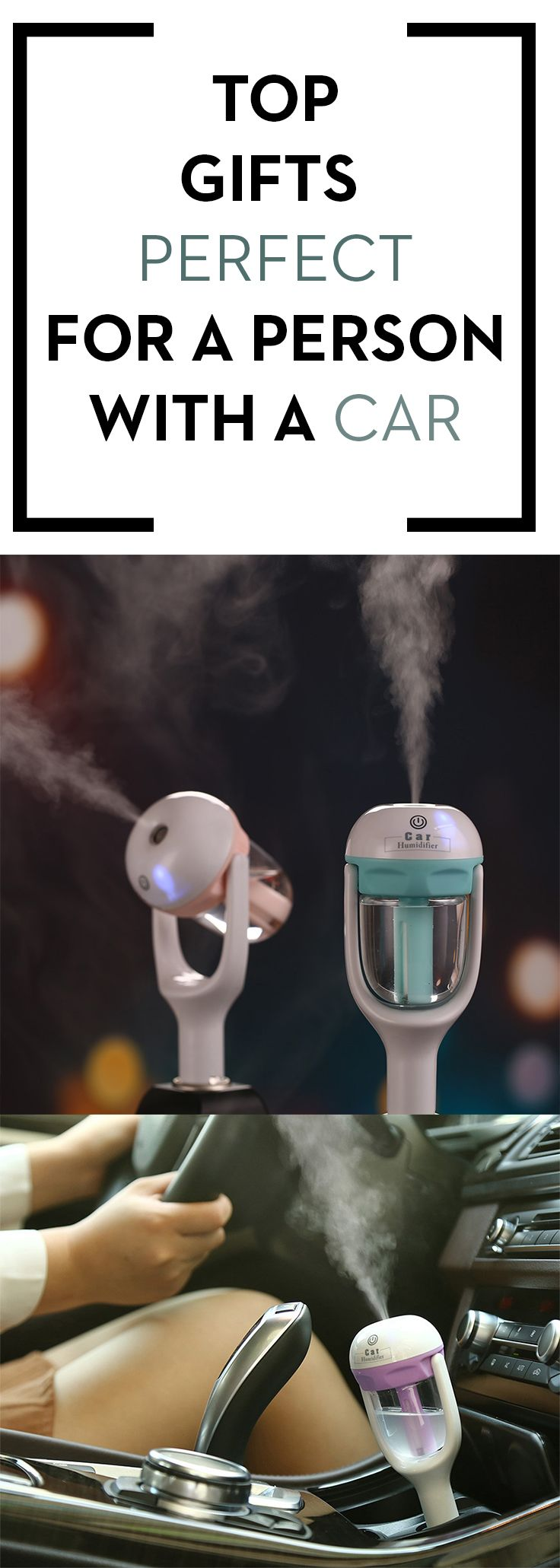 This Car Aroma Diffuser Air Humidifier is the perfect item to remove the foul or strong smell from your car. The power type is from your car's charging port. Keep your car clean and fresh all the time