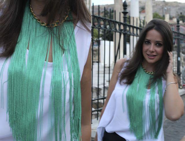 DIY Collar de flecos