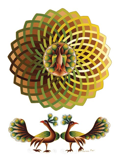 Peacocks & Mandala III by Seeroon Yeretzian