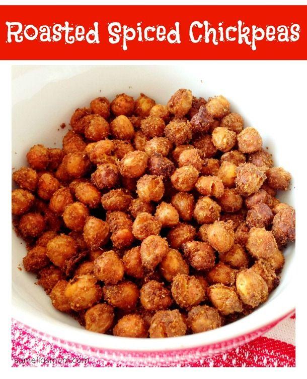 Roasted Spiced Chickpeas Recipe - SameliasMum | FOOD : Snacks ...