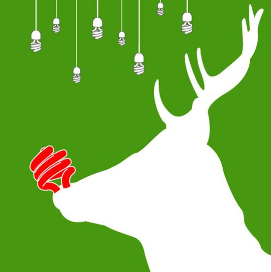 Green - Energy Saving Rudolph