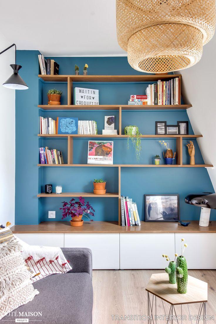 Qui : Un locataire Architectes : Margaux Meza et Carla Lopez Emplacement : Saint Ouen Superficie : 19 m2 Photos : Transition Interior Design