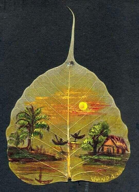 Peepal Leaf Painting Craft