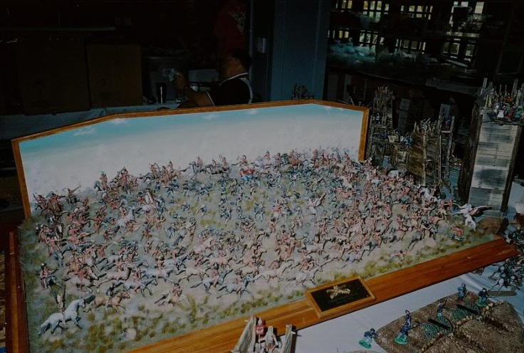 Long Sofa Bar Table Comfortable Bed Sectional Miniature Of Custer's Last Stand | Fantasylands....for The ...