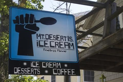 Mt. Desert Island Ice-cream, Bar Harbor Maine