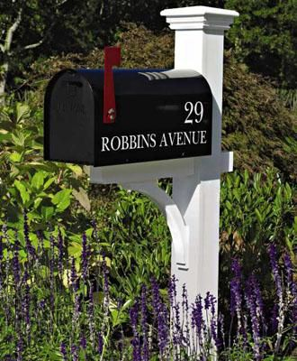 "These are my Favorite mailbox posts!!  You can order the lettering too, beautiful! Liberty Mail Post, 4 1/2"" square cedar post and 5 1/2"" cellular vinyl post.  These are the BEST"