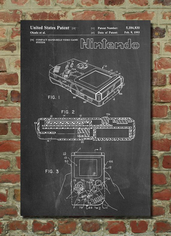Blueprint of Gameboy Poster. Might have to snag this for myself if I don't give it away