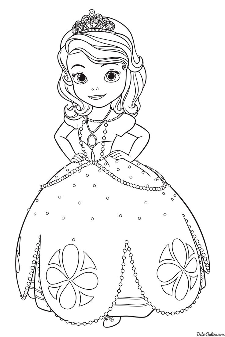 Раскраска Принцесса София | تلوين | Раскраски, Принцесса ...