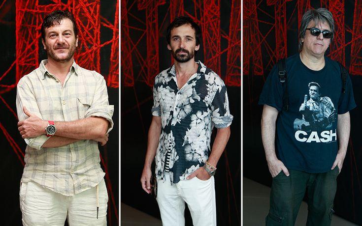 Trio de bandidões: Roberto Birindelli (Grego), Júlio Andrade (Charles) e Mario Bortoloto (Oliveira)   #ATeia   TV Globo
