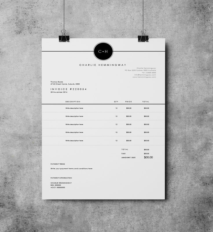 Invoice Template | Invoice Design | Receipt | MS Word Invoice template…
