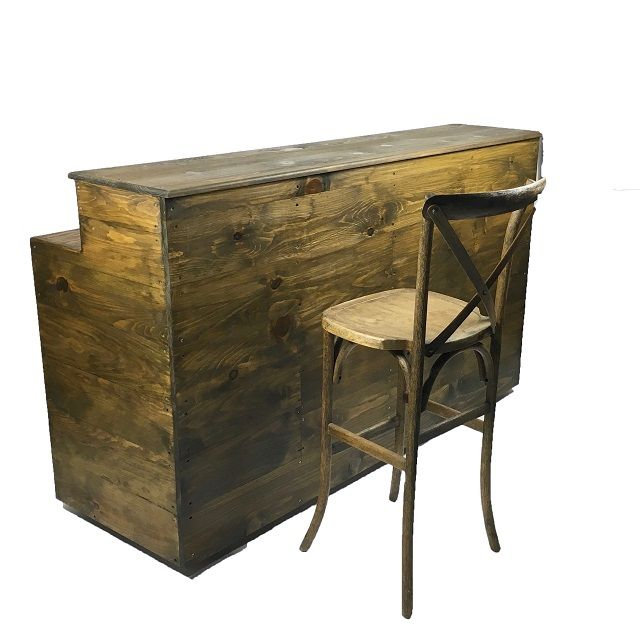 CUSTOM WOOD BAR 6 FOOT Rentals Miami FL, Where to Rent CUSTOM WOOD BAR 6